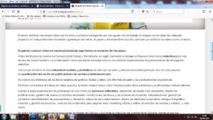 Mariana Eguaras. Pantalla web