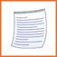 Icono maquetación de textos para publicar un libro