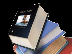 Lámina con libros apilados. Corrección tipográfica
