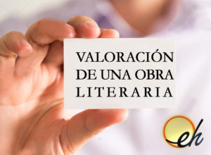 Imagen con texto sobre valoración de una obra literaria