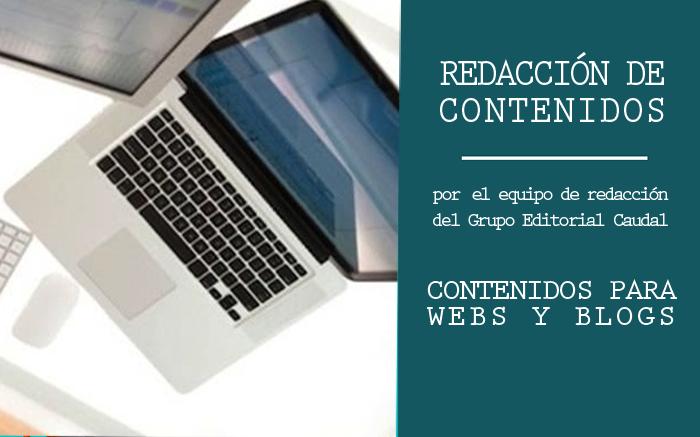 Servicio de redacción de contenidos para webs y blogs