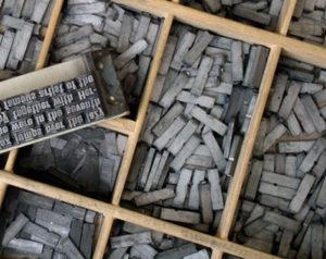 Cajetín de imprenta de las editoriales tradicionales