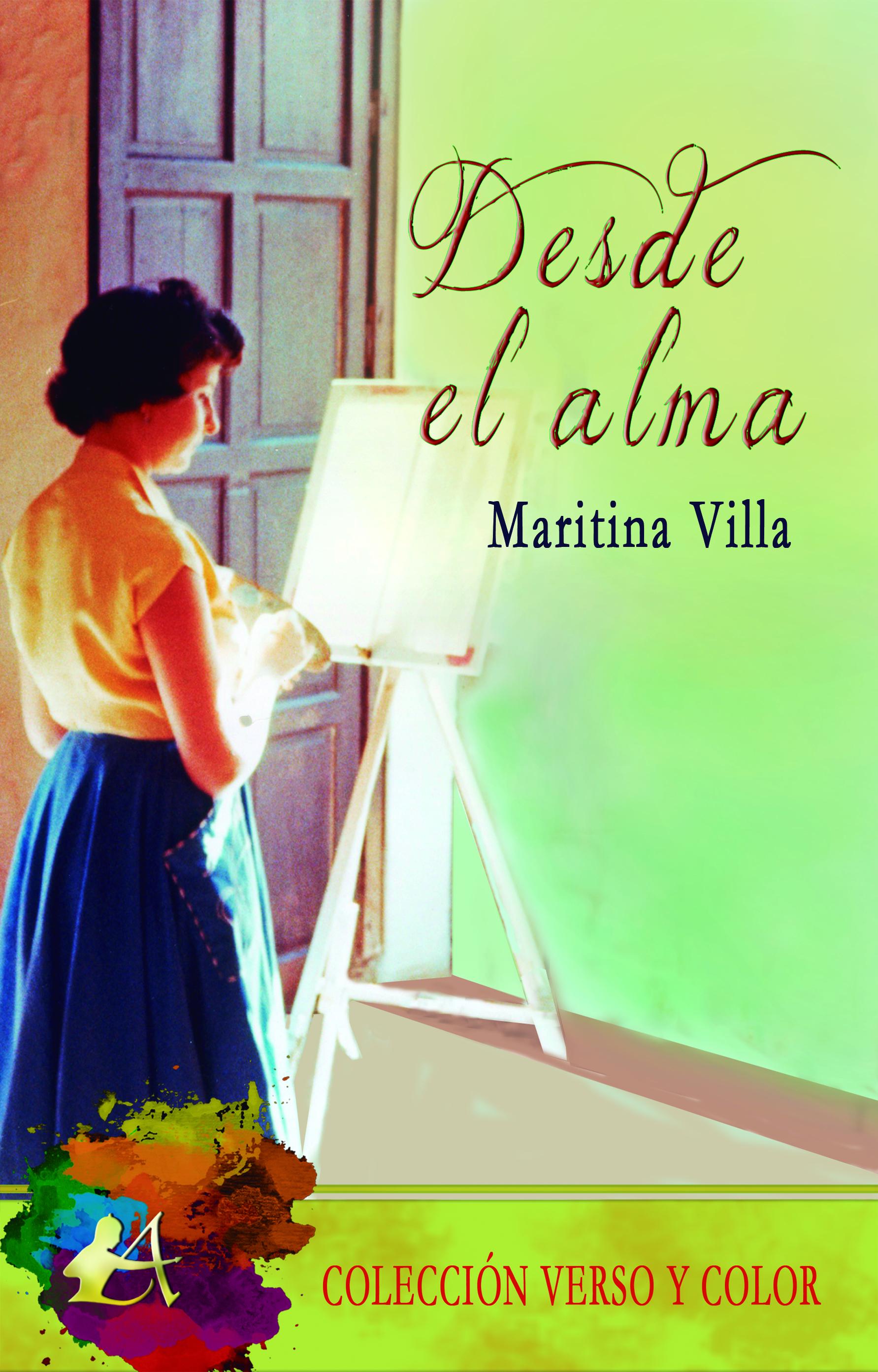 Portada del libro Desde el alma de Maritina Villa. Editorial Adarve, Escritores de hoy