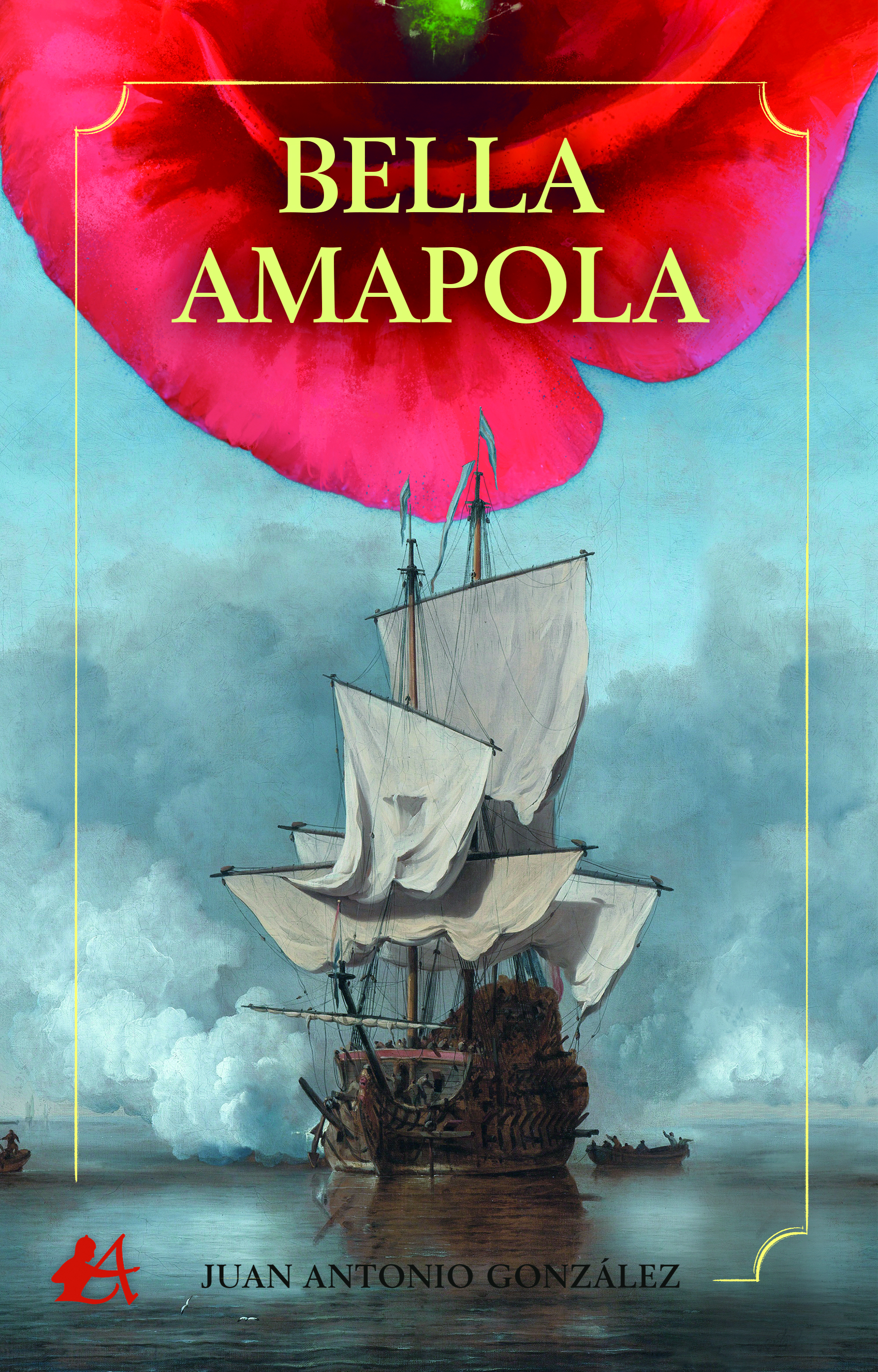 Portada del libro Bella amapola de José Antonio González Cejas. Editorial Adarve, Publicar un libro