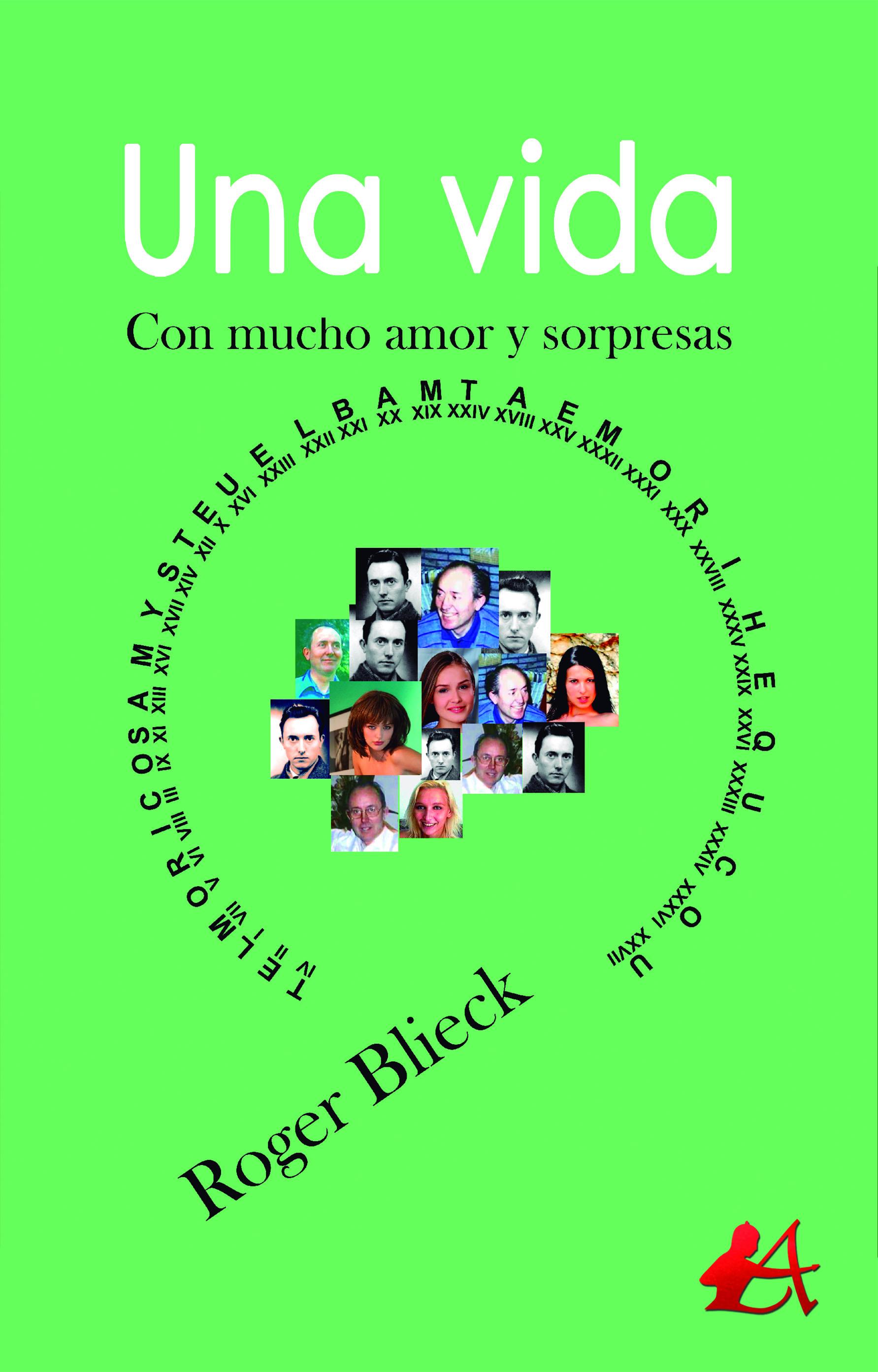 Portda del libro Una vida de Roger Blieck. Editorial Adarve, Escritores de hoy