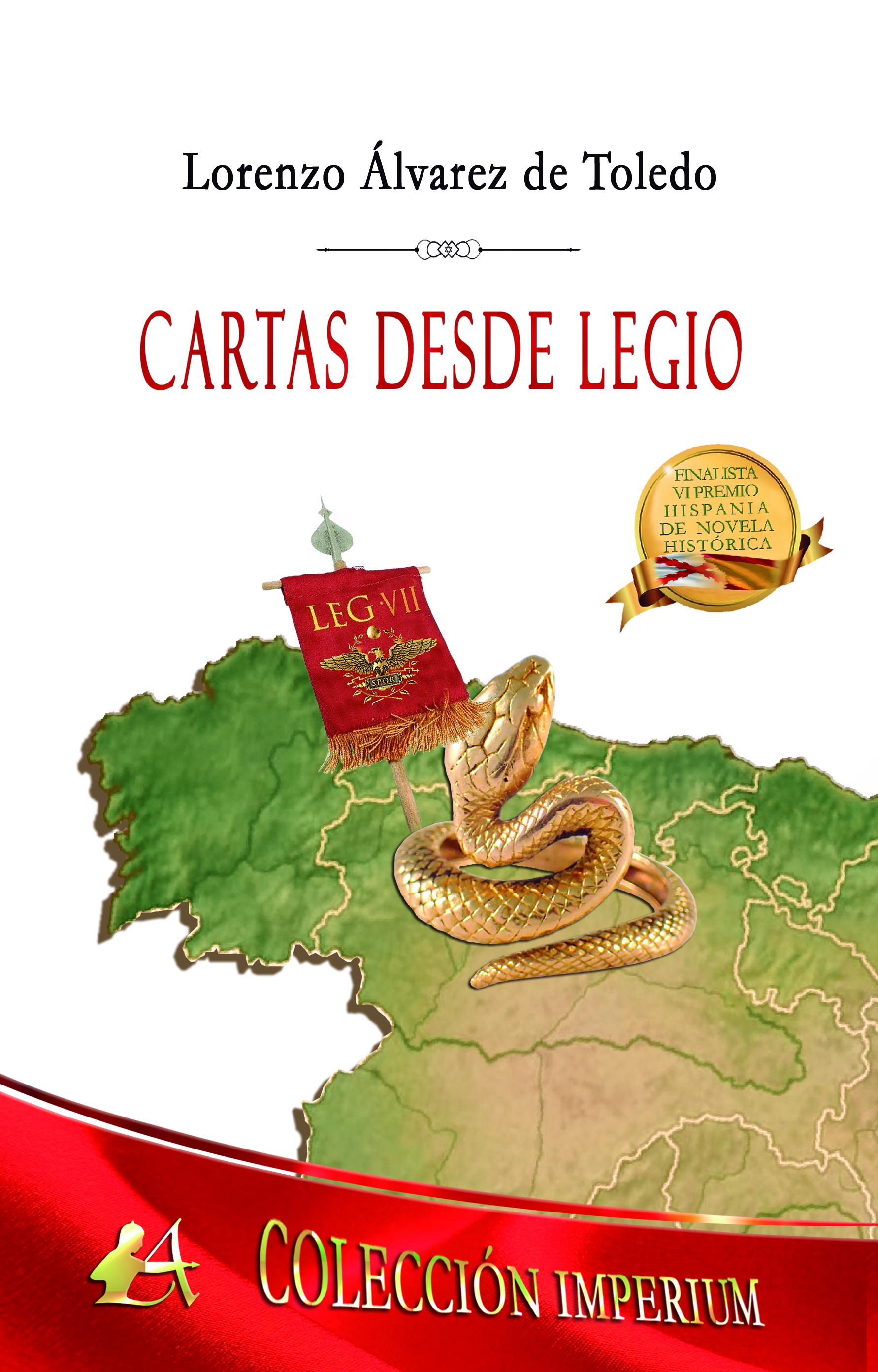 Portada del libro Cartas desde Legio de Lorenzo Álvarez de Toledo. Editorial Adarve, Publicar un libro