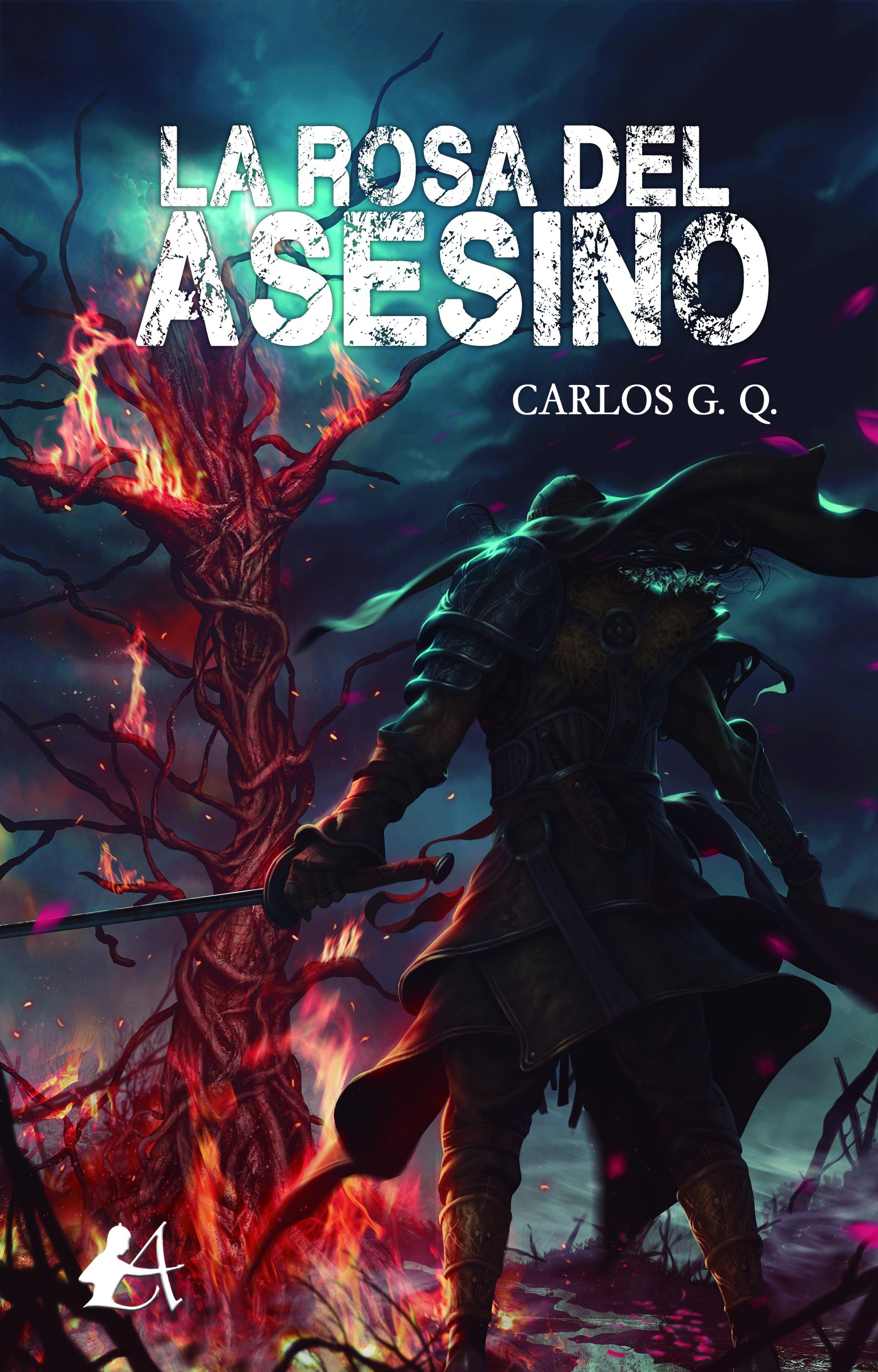 Portada del libro La rosa del asesino de Carlos Gómez Quintana. Editorial Adarve, Librería Capitán Letras