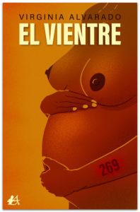 Portada de El vientre de Virginia Alvarado,. Editorial Adarve. Publicar un libro